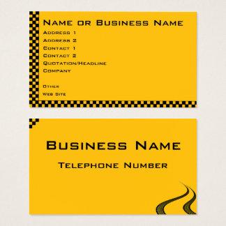 Cartão de visita da empresa de serviços do táxi ou
