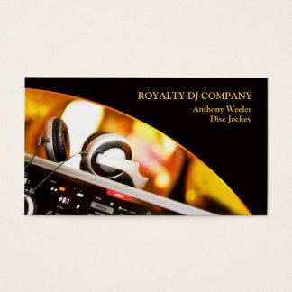 Cartão de visita da empresa do DJ