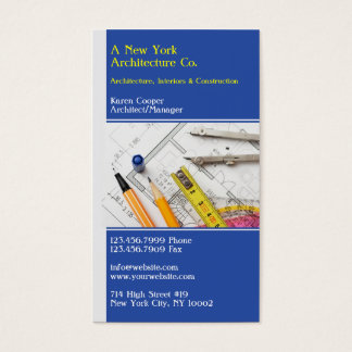 Cartão de visita da engenharia de arquitetura