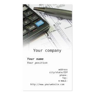 Cartão de visita da engenharia mecânica