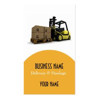 Cartão de visita da entrega e do transporte
