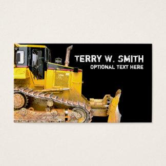 Cartão de visita da escavadora da construção
