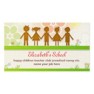 cartão de visita da escola