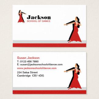 Cartão de visita da escola de dança
