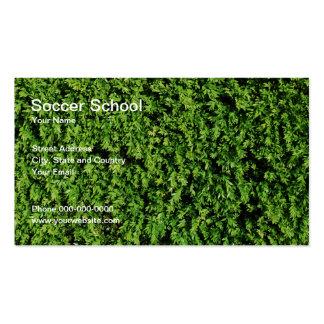 Cartão de visita da escola do futebol