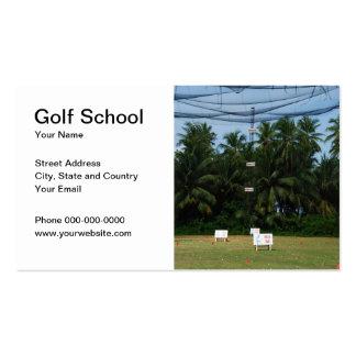 Cartão de visita da escola do golfe