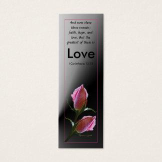 Cartão de visita da escritura do amor