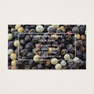 Cartão de visita da especiaria da pimenta