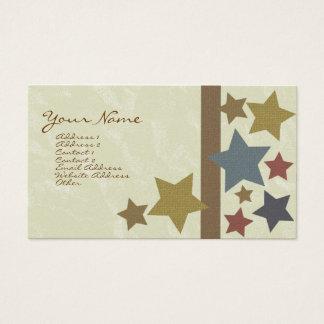 Cartão de visita da estrela