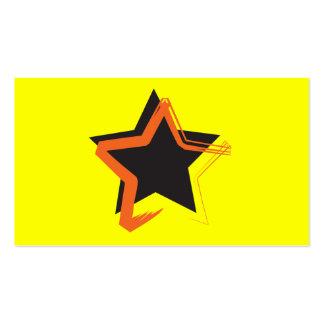 Cartão de visita da estrela da diva