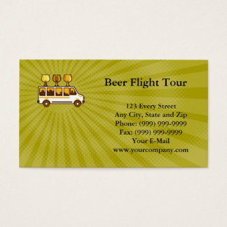 Cartão de visita da excursão do vôo da cerveja