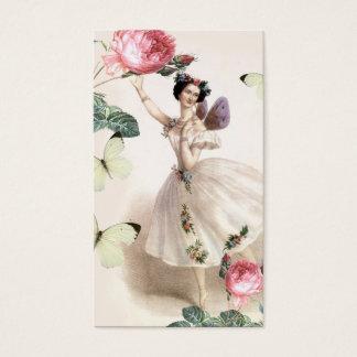 Cartão de visita da fada da bailarina