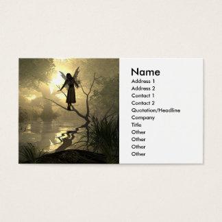 Cartão de visita da fada do descanso