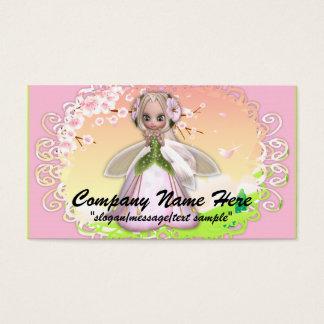 Cartão de visita da fantasia:: Fada 2 da flor de
