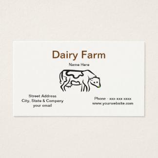 Cartão de visita da fazenda de leiteria da vaca
