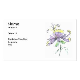 Cartão de visita da flor