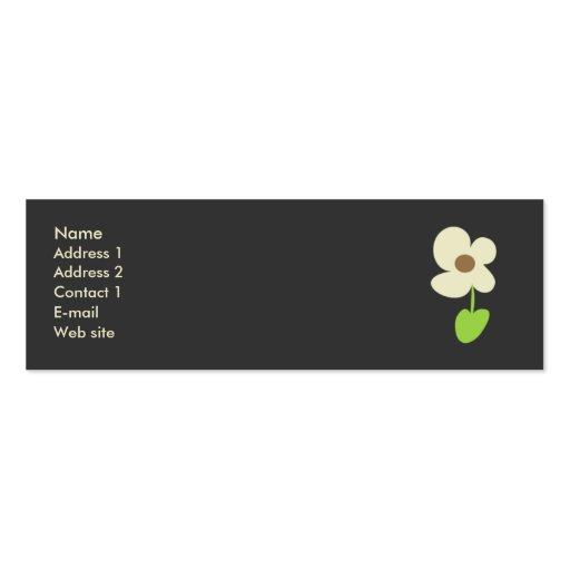 Cartão de visita da flor - cartão social dos traba