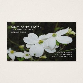 Cartão de visita da flor da árvore de Dogwood