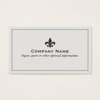 Cartão de visita da flor de lis