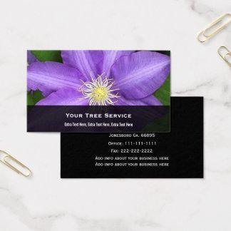 Cartão de visita da flor do Clematis