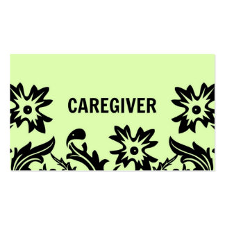 Cartão de visita da flor do cuidador