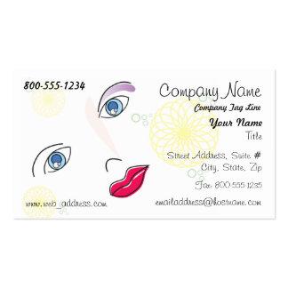 Cartão de visita da forma/beleza