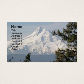 Cartão de visita da foto da capa da montagem