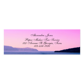 Cartão de visita da foto da paisagem