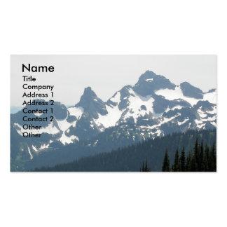 Cartão de visita da foto da paisagem da montanha