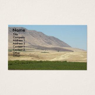 Cartão de visita da foto da paisagem da região