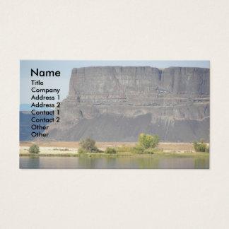 Cartão de visita da foto da paisagem da rocha