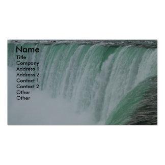 Cartão de visita da foto da paisagem de Niagara