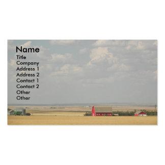 Cartão de visita da foto da paisagem dos campos de