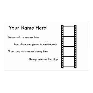 Cartão de visita da fotografia da amostra