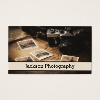 Cartão de visita da fotografia da câmera