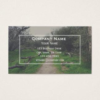 Cartão de visita da fuga de caminhada