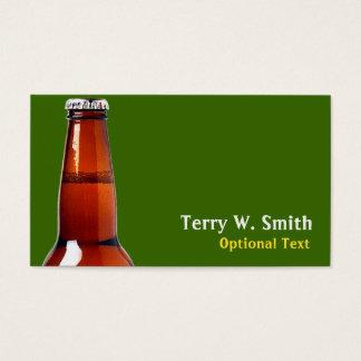 Cartão de visita da garrafa de cerveja