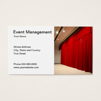 Cartão de visita da gestão do evento
