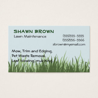 Cartão de visita da grama