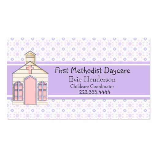 Cartão de visita da guarda da igreja do país