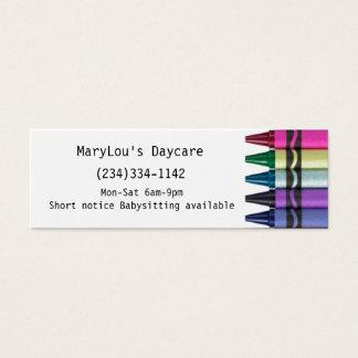 Cartão de visita da guarda da puericultura