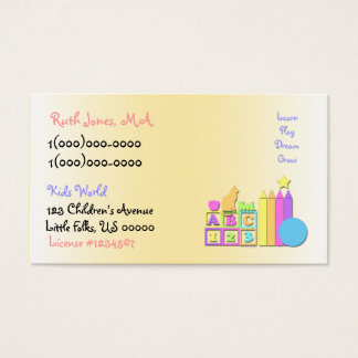 Cartão de visita da guarda do mundo dos miúdos