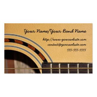 Cartão de visita da guitarra