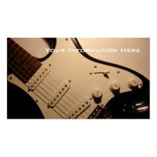 Cartão de visita da guitarra elétrica
