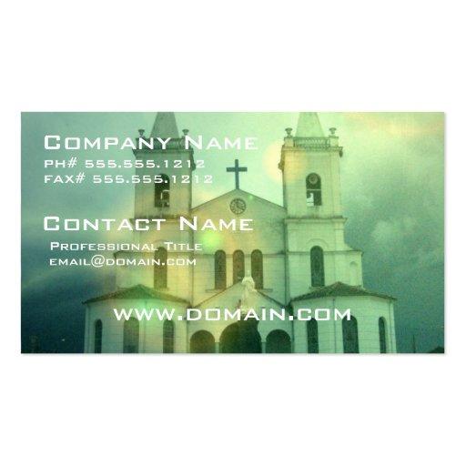 Cartão de visita da igreja cristã