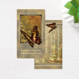 Cartão de visita da ilustração da borboleta do