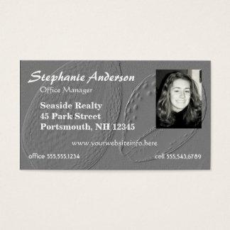 Cartão de visita da imagem da foto