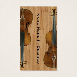 Cartão de visita da imagem do instrumento do