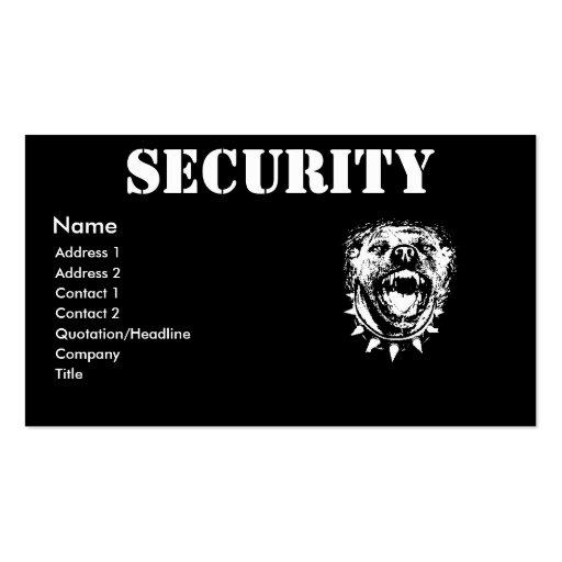 Cartão de visita da indústria da segurança