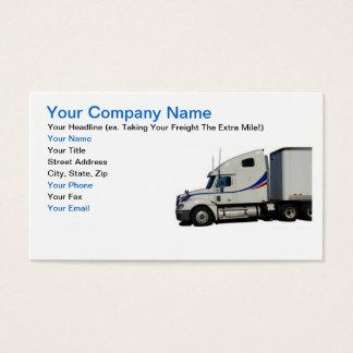 Cartão de visita da indústria de transporte por